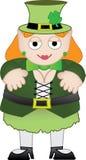 Sorriso fêmea do leprechaun Imagens de Stock Royalty Free