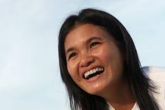 Sorriso felice fotografia stock