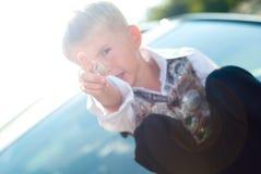 Sorriso felice del bambino Fotografie Stock Libere da Diritti