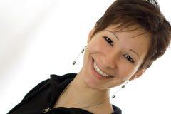 Sorriso felice della ragazza Fotografia Stock Libera da Diritti