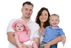 Sorriso feliz da família Fotos de Stock Royalty Free