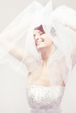 Sorriso feliz da noiva Fotos de Stock Royalty Free