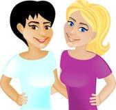 Sorriso feliz das namoradas Imagens de Stock