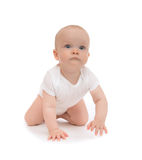 Sorriso feliz de rastejamento da criança do bebê da criança Fotos de Stock Royalty Free