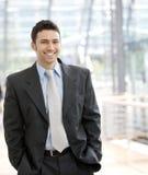 Sorriso feliz do homem de negócios Imagem de Stock Royalty Free