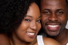 Sorriso feliz dos pares foto de stock