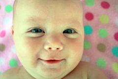 Sorriso grande do bebé Fotografia de Stock Royalty Free