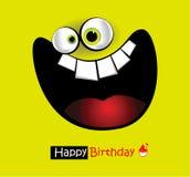 Sorriso grande do cartão do feliz aniversario Fotos de Stock