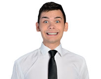 Sorriso grande do homem de negócio Imagens de Stock Royalty Free