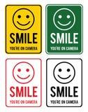 Sorriso Grupo de sinais de aviso sobre a conduta da fiscalização dentro ilustração royalty free