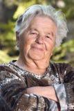 Sorriso idoso da mulher Imagem de Stock
