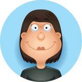 Sorriso latino-americano da mulher dos desenhos animados fotos de stock