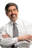 Sorriso latino-americano do homem de negócios Fotos de Stock Royalty Free