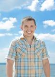 Sorriso luminoso di estate fotografia stock