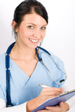 Sorriso médico novo da enfermeira do doutor da mulher Imagem de Stock Royalty Free