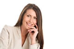 Sorriso maduro da mulher elegante imagens de stock