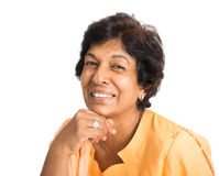 Sorriso maduro indiano da mulher Fotos de Stock