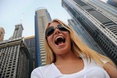 Sorriso na cidade imagens de stock royalty free