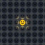 Sorriso nella folla fotografie stock libere da diritti