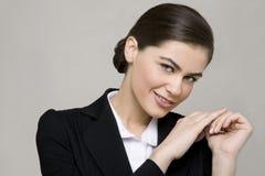 Sorriso novo da mulher de negócio Foto de Stock
