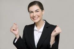 Sorriso novo da mulher de negócio fotos de stock