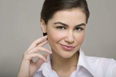 Sorriso novo da mulher de negócio Fotografia de Stock Royalty Free