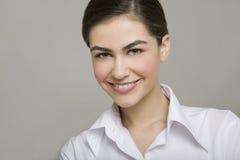 Sorriso novo da mulher de negócio Imagem de Stock Royalty Free