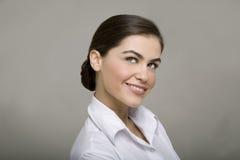 Sorriso novo da mulher de negócio fotografia de stock