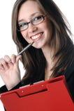Sorriso novo da mulher de negócio Imagem de Stock
