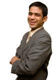 Sorriso novo do homem de negócios fotografia de stock royalty free