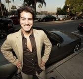 Sorriso novo do homem de negócios Fotografia de Stock