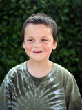Sorriso novo do menino Fotografia de Stock