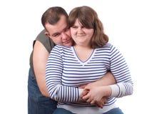 Sorriso novo dos pares do amor Fotografia de Stock