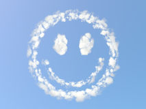 Sorriso nuvoloso Fotografia Stock Libera da Diritti