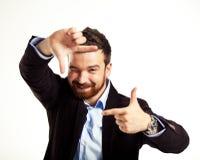 Sorriso ocasional considerável do homem Foto de Stock Royalty Free