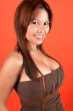 Sorriso oriental 'sexy' Fotos de Stock