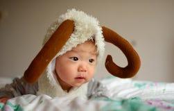 Sorriso pequeno do bebê Imagens de Stock Royalty Free