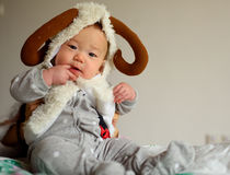 Sorriso pequeno do bebê Fotos de Stock