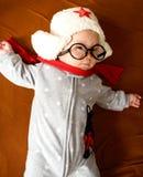 Sorriso pequeno do bebê Imagem de Stock