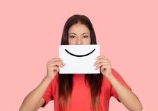 Sorriso per favore Immagini Stock