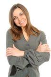 Sorriso positivo da mulher de negócio Imagens de Stock