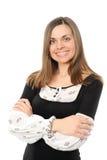 Sorriso positivo da mulher de negócio imagem de stock