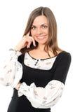 Sorriso positivo da mulher de negócio fotografia de stock