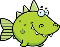 Sorriso pré-histórico dos peixes ilustração stock