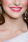 Sorriso rosa delle labbra fotografia stock libera da diritti