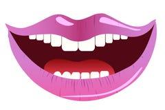Sorriso rosa delle labbra Illustrazione di vettore Immagini Stock