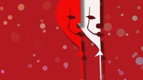 Sorriso sanguinoso del pagliaccio illustrazione vettoriale