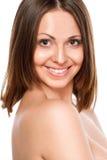sorriso sano e bianco Fotografie Stock Libere da Diritti