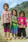 Sorriso Sapa das meninas, Lao Cai, Vietname imagens de stock