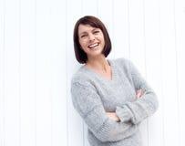 Sorriso seguro da mulher mais idosa foto de stock royalty free